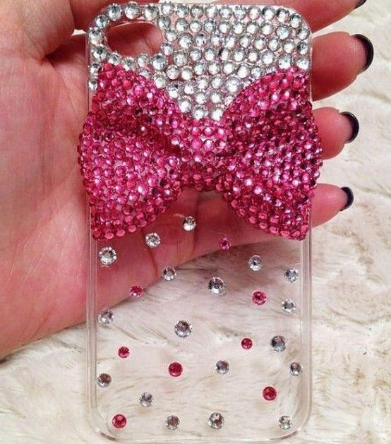 Pink bow iphone 4,4s case, Pearl iphone 4