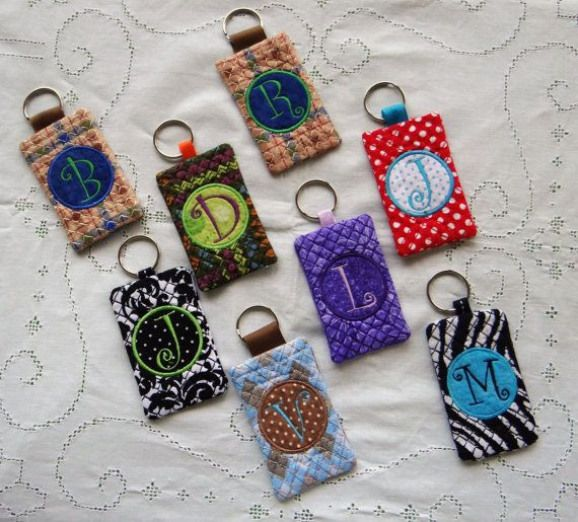 Keychain card holder ID Business Card Credit by MimisWhimsey $9.00 #creditcards …