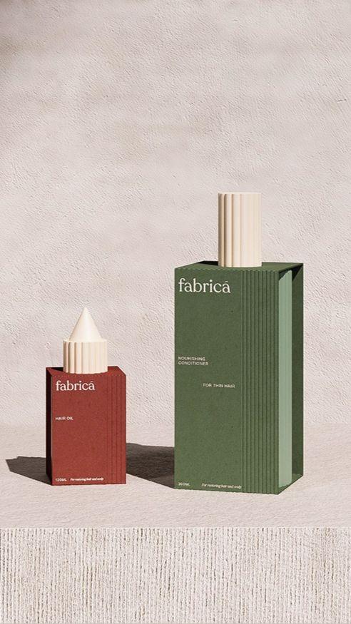 Fabrica hair care packaging design by Lyon & Lyon Design Studio