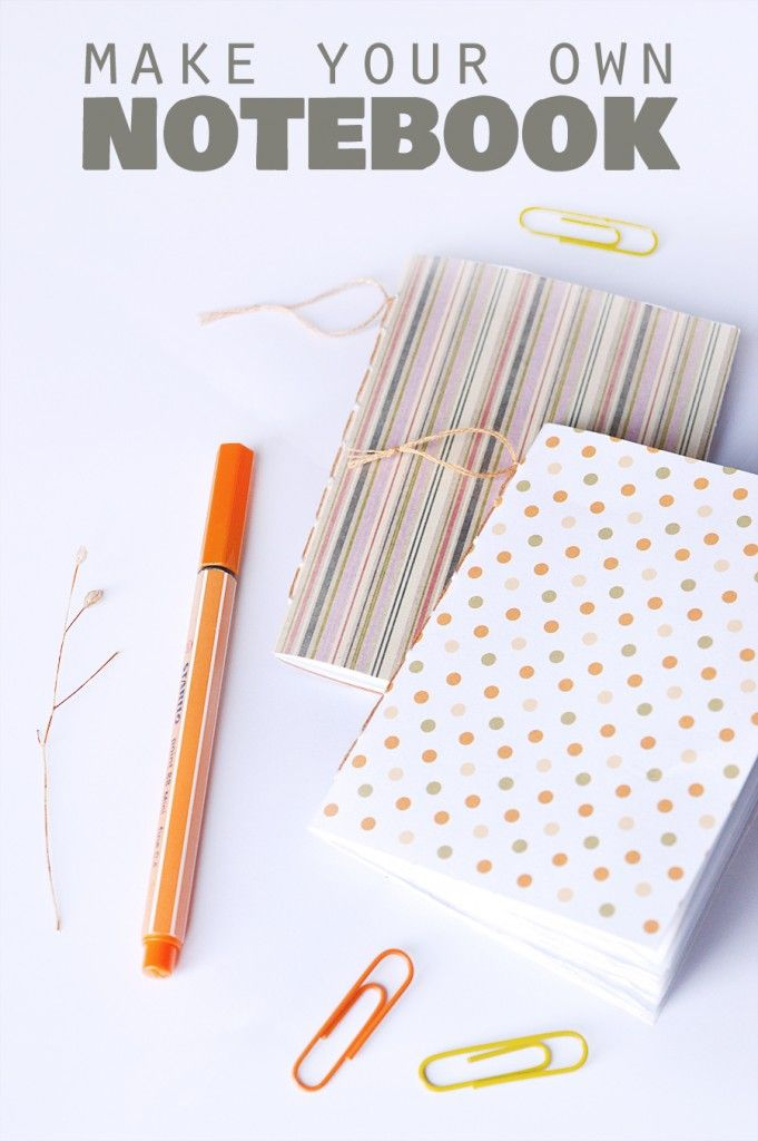 DIY notebook tutorial | craftingfingers.co.uk #stationery