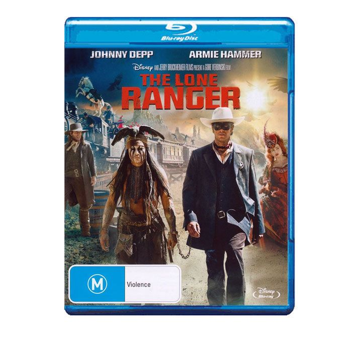 The Lone Ranger Blu-ray Brand New Region B Aust. - Johnny Depp