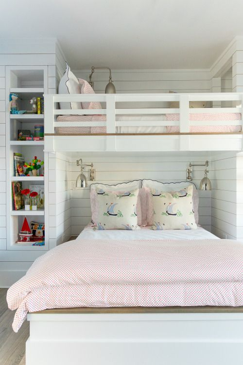 1000 ideas about white girls rooms on pinterest girl for Girls bedroom decorating ideas with bunk beds