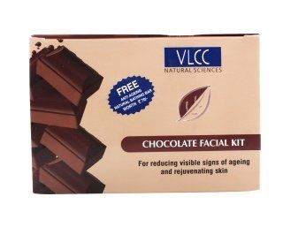 VLCC Natural Sciences Chocolate Facial Kit 10g by VLCC. $8.45. Chocolate Facial Pack. Antioxidants present in chocolate help in reducing visible signs of ageing, detoxifying and toning it to leave it with a youthful glow.. Chocolate Facial Scrub. The VLCC Chocolate Facial pampers your skin, boosts collagen formation and offers quick skin firming.. For reducing visible signs of ageing and rejuvenating skin. The VLCC Chocolate Facial pampers your skin, boosts collage...