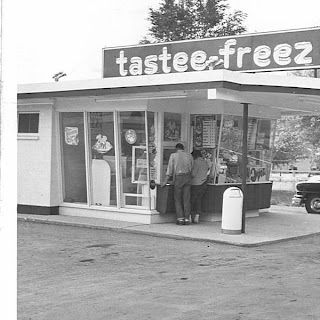 for a rare treat we would get ice cream cone here - but often on Saturdays they had $1 hamburgers and Pa would bring home a huge bag of them for lunch