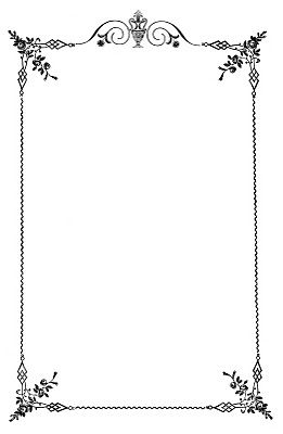 Vintage Clip Art - Elegant Frame - Wedding Menus - The Graphics Fairy