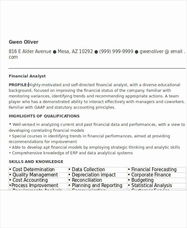 Entry Level Analyst Resume Fresh 24 Free Finance Resume Templates Pdf Doc In 2020 Good Resume Examples Teacher Resume Template High School Guidance