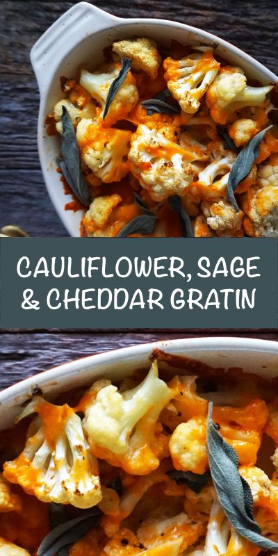 A delicious vegetarian side dish that will be perfect for any dinner. Try it this Thanksgiving or Christmas. My easy cauliflower, sage & cheddar gratin will be a winner at your table. You can make it ahead or under 30 minutes the day of.