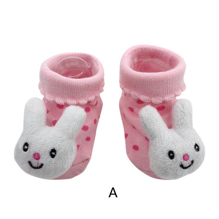 Cool Cartoon Newborn Baby Girls Boys Anti-Slip Socks Slipper Shoes Boots Sep22 - $6.09 - Buy it Now!
