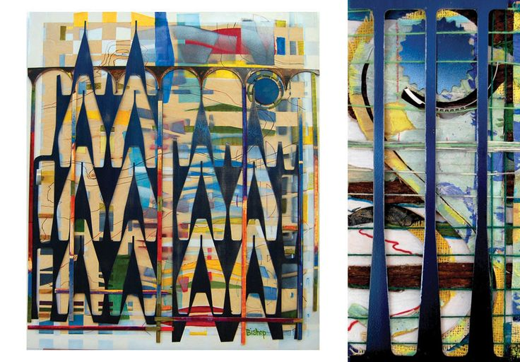 Lynn Bishop--mixed media paintings. #uxbridgestudiotour