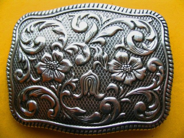 Western Cowgirl Cowboy Flower Rodeo Belt Belts Buckle Buckles