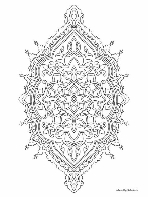 Persian Style Ornament to color