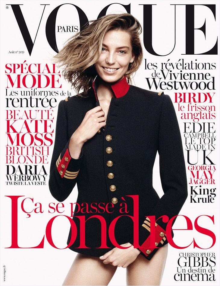 Daria Werbowy in Ralph Lauren for Vogue Paris August 2013