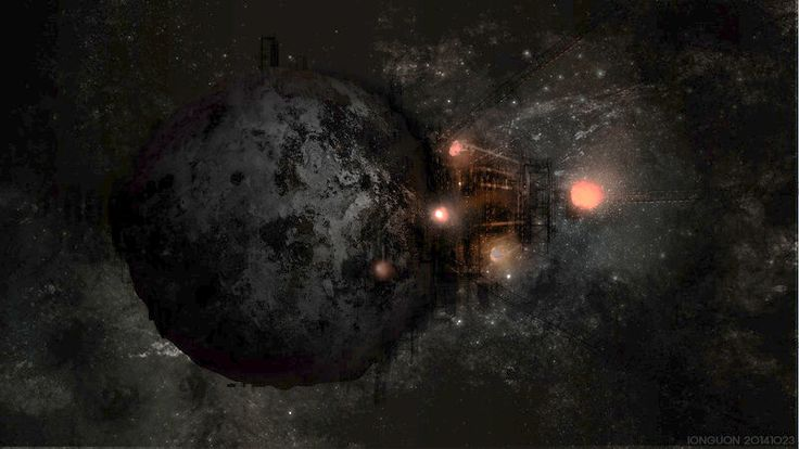 Yionguon's 2D works - Moon ship