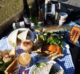 Visit 41southtasmania - a small licensed café is on site where you can enjoy a variety of light lunches including salmon sandwiches, salmon platters and salmon burgers.