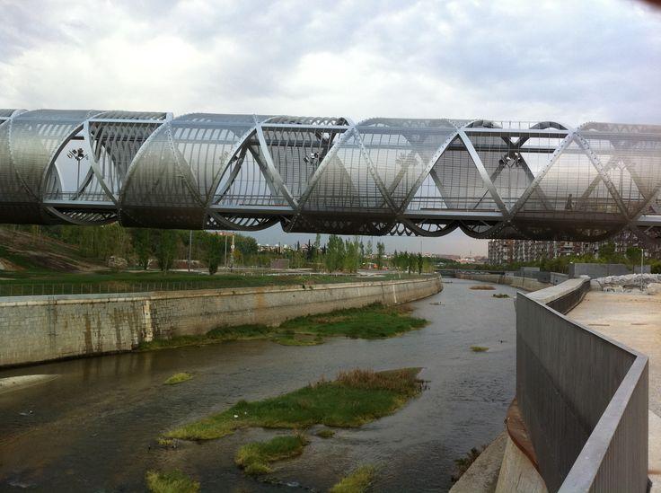 Puente Perrault en Madrid Rio