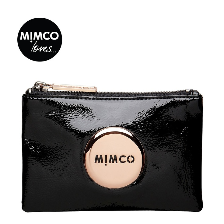 Mimco Black Purse with (Rose Gold). $69.95