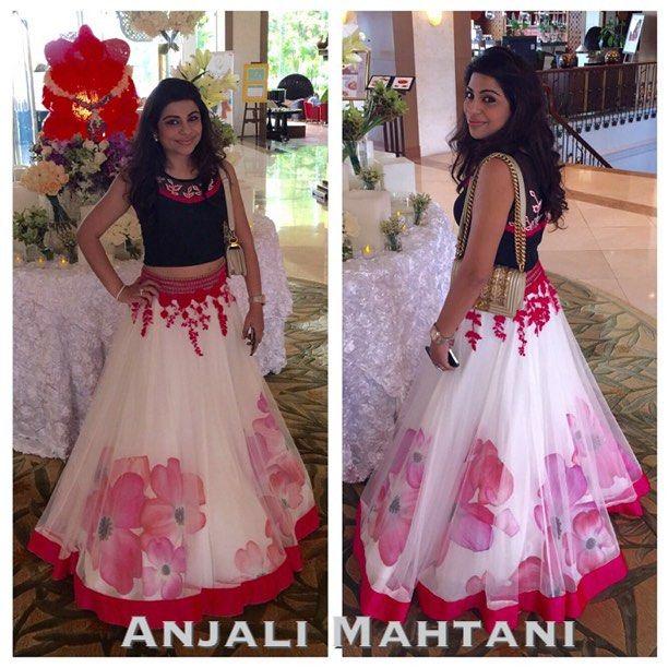 anjali mahtani Modern twist to a desi lengha
