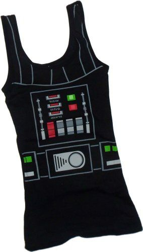 Darth Vader Costume -- Star Wars Fitted Juniors Tank-Top Shirt http://www.amazon.com/gp/product/B00GQGDX5G