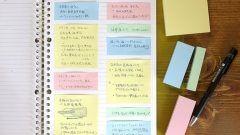 今インスタグラムで話題になっている付箋ノートの作り方を紹介しますよ 付箋ノートを作るうえで必要なものはノートと付箋とペンだけ 活用法はノートを開いて付箋を貼っていくだけで考えごとや暗記をしたときに考えをまとめやすくなるよ 今日から試してみてね(ˊᗜˋ)و