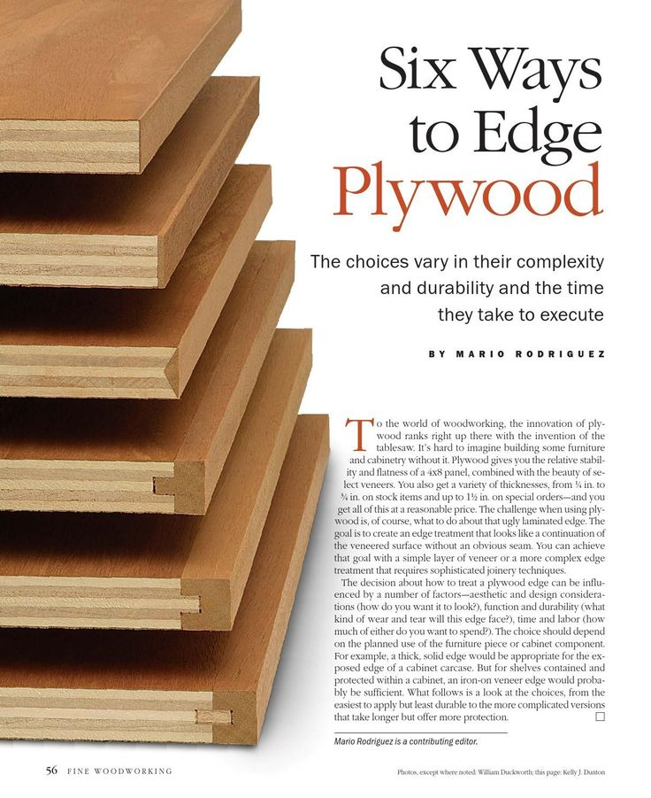 Six ways to edge plywood