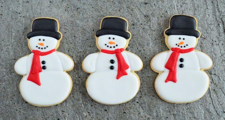 Sneeuwpop koekjes
