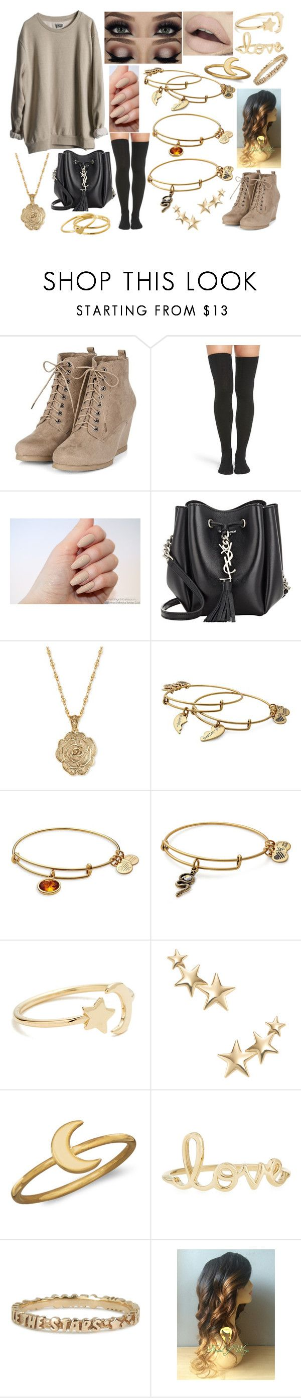"""""""OOTD-Tuesday, April 25"""" by kenziebandgeek ❤ liked on Polyvore featuring MTWTFSS Weekday, Peony & Moss, tarte, Yves Saint Laurent, 2028, Alex and Ani, Ariel Gordon, Kenneth Jay Lane, BillyTheTree and Sydney Evan"""