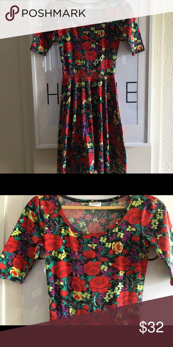 LulaRoe Nicole XXS Oh dear Nicole! So well loved! I did pop her in the dryer. So you will notice she isn't brand new but it's poshmark after all, right?This was the dress I would nurse my son in. I pretty much wore this as much as I could the first few months of breastfeeding. Stretchy material. I use a pilling machine on all of my lularoe items. Slightly OCD home. Pet free. Smoke free home. Gosh I love this print so much that I may just keep her if I don't get what I ask for. Picture taken…