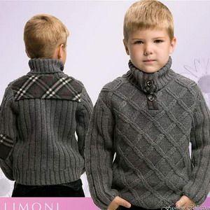 Вязаный свитер для подростка