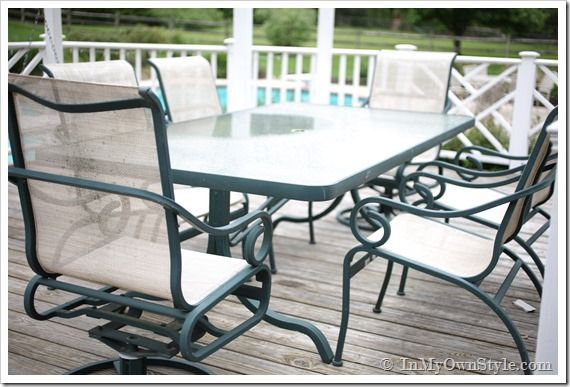 How to Paint Outdoor Furniture with Sling Seats