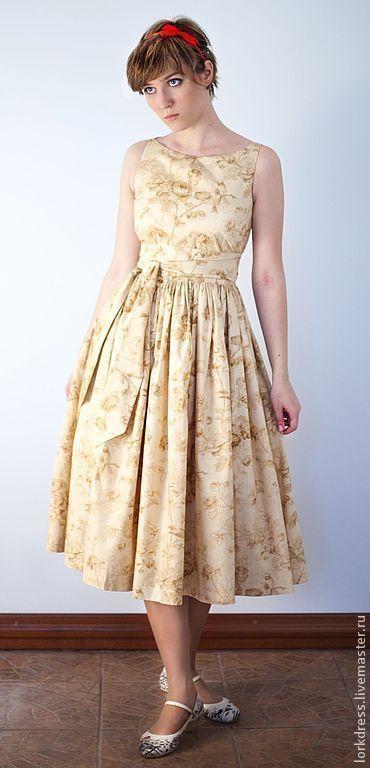 """Платья ручной работы. Ярмарка Мастеров - ручная работа Платье """"Cream sparrow"""" из хлопка. Handmade."""