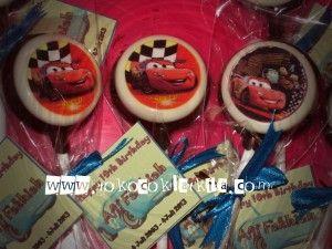 Coklat lolipop Edible Seri Cars Disney Pesan hub SMS : 0821 35 989 577 atau add Pin BB 229A432A