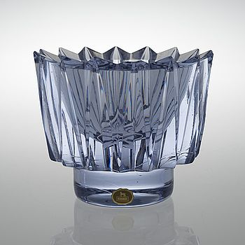 "AIMO OKKOLIN, kristallskål, ""Kruunu"", signerad, Aino Okkolin, Riihimäen lasi Oy. - Bukowskis"