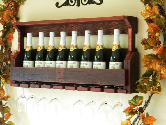 Cherry Wine Rack, Wine Rack, Reclaimed Pallet Wood, Pallet Wine Rack, Rustic Decor, Unique Wine Rack, House Warming Gift, Wedding Gift
