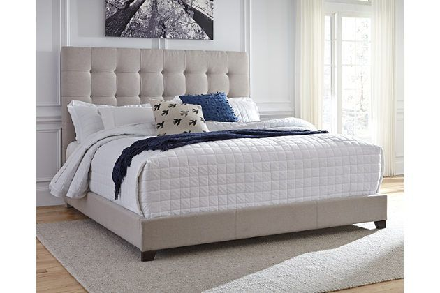 King Beds Headboard Leather Look Neutral Box Springs