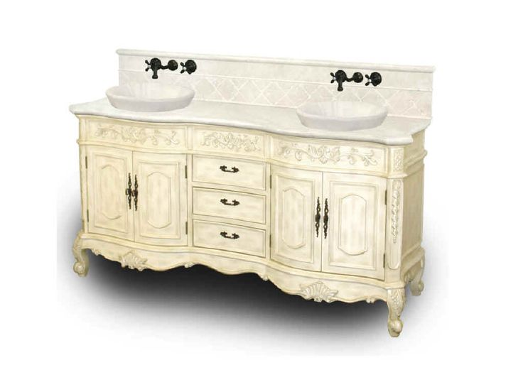 Best 25 antique bathroom vanities ideas on pinterest - Antique white double sink bathroom vanities ...