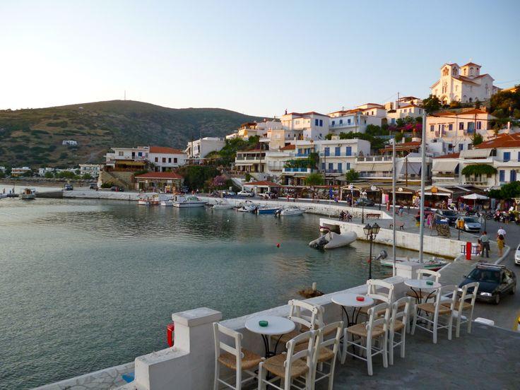 Batsi Village in Andros