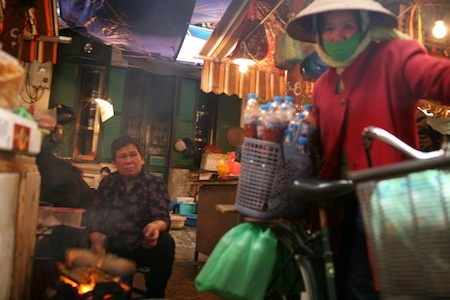 Market day in Hanoi, Vietnam