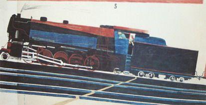 Locomotive by Alexander Deineka (1930)