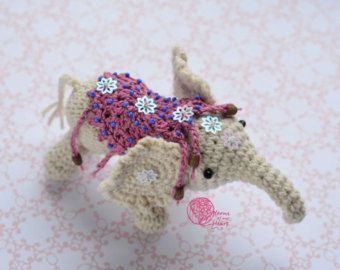 PATTERN: Crochet elephant pattern by TheresasCrochetShop on Etsy