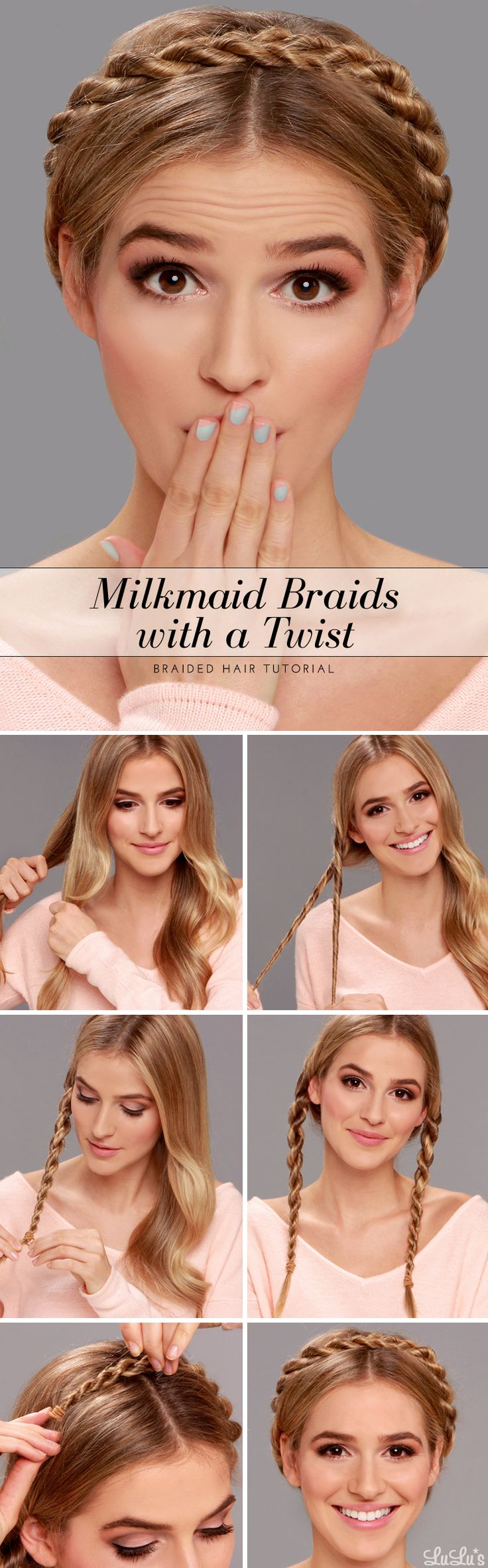 Milkmaid Braid with a Twist Hair Tutorial at LuLus.com!