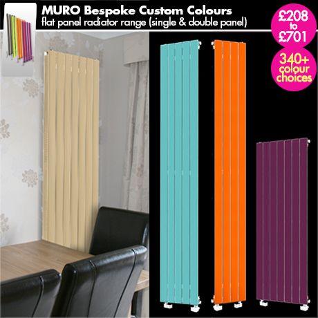 "Colour Radiator - ""Muro Bepsoke Custom colour"" - Coloured Vertical (Upright) Designer Radiator for a Central Heating System."