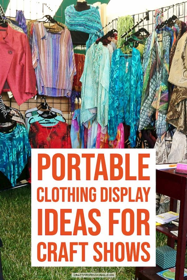 Handmade Clothing Display Ideas Displays Craft Show Booths Clothes