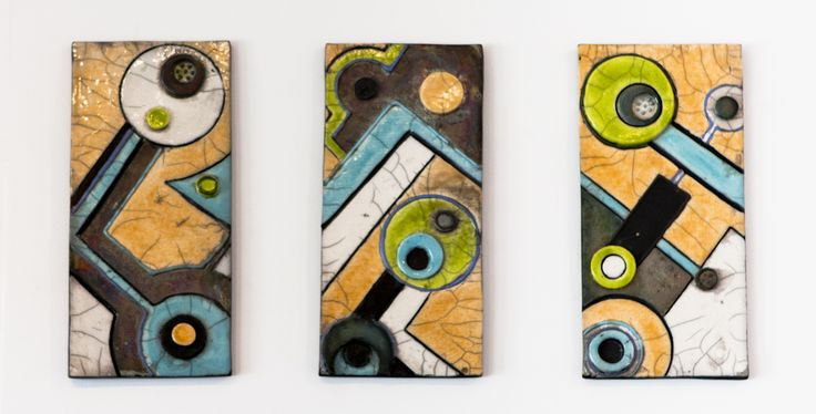 Art deco inspired wall plaques