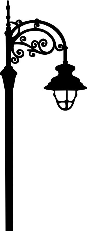 Flourish street lamp svg