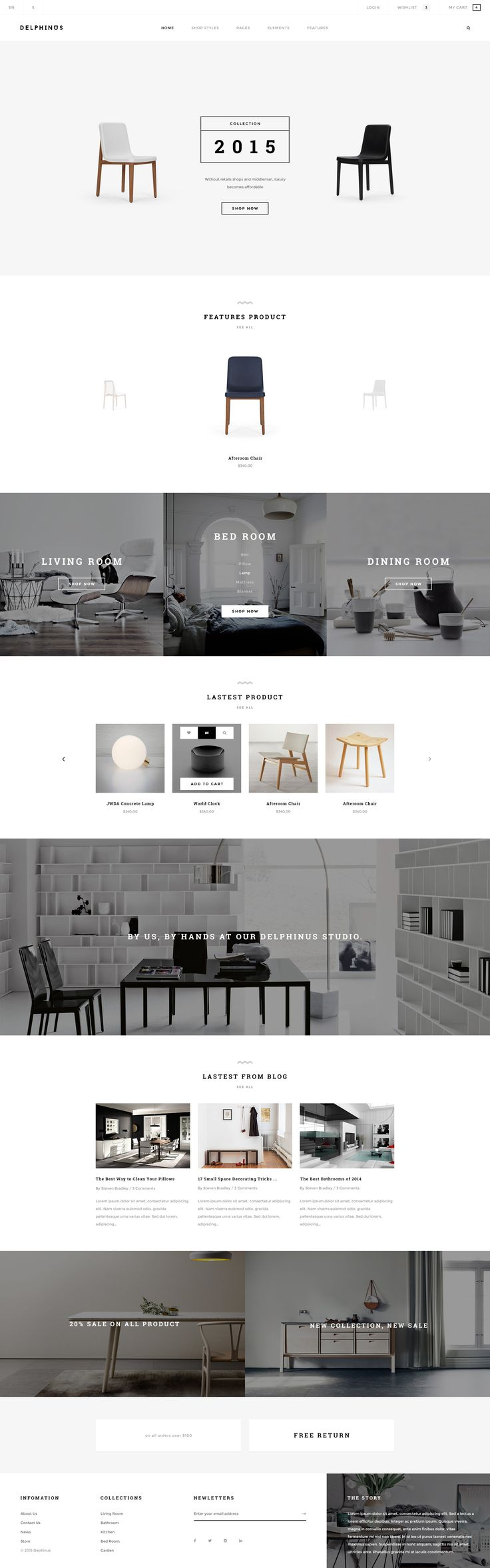 Delphinus - Creative eCommerce PSD template - PSD Templates | ThemeForest