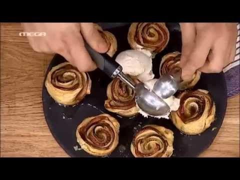 ΚΑΝΤΟ ΟΠΩΣ Ο ΑΚΗΣ: Μηλοπιτάκια σε σχήμα τριαντάφυλλο