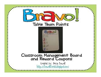 Bravo Board and Reward Coupons {Classroom Management System} - Foxwell Forest - TeachersPayTeachers.com