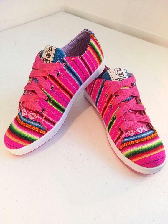 Pancho's Footwear  Women's Pink Low Top by PanchosFootwear on Etsy