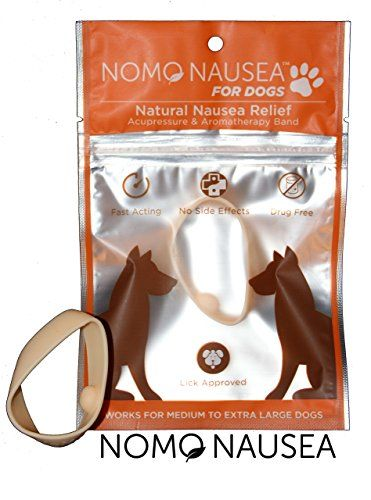 NoMo Nausea Band INSTANT RELIEF, Peppermint Scented Anti-Nausea Band With Gentle Acupressure for Dogs! >>> Click image for more details.
