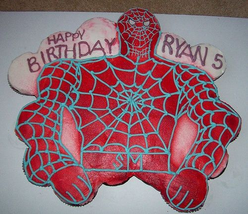 Pull Apart Cupcakes Designs | Cupcake Ideas / Spiderman Pull Apart Cupcake  Cake